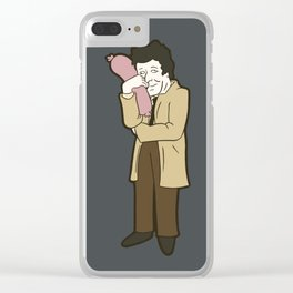 Columbo and his sausage Clear iPhone Case
