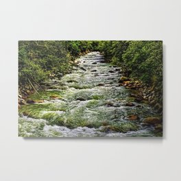 Cascading Mountain Stream Metal Print