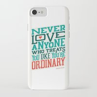 oscar wilde iPhone & iPod Cases featuring Never Ordinary - Oscar Wilde by Travis Cooper