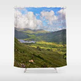 The Black Vally Shower Curtain