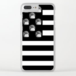US Minifigure Flag - Horizontal Clear iPhone Case