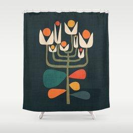 Retro botany Shower Curtain