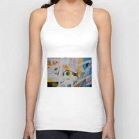 grafitti Tank Tops featuring Some flags, circles & paint. Magic layers by AntWoman