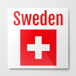 Sweden - Swiss Flag Metal Print