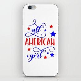 All American girl iPhone Skin