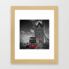 LONDON Tower Bridge & Red Bus Framed Art Print