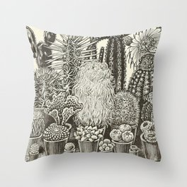 Cacti And Succulents Throw Pillow