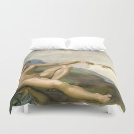 Michelangelo - Creation of Adam Duvet Cover