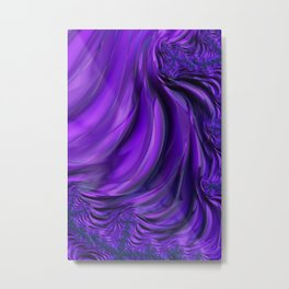 Purple Drapes Metal Print
