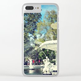Fountain at Forsyth Clear iPhone Case