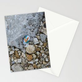 Heart in the rocks along the Mississippi River Stationery Cards