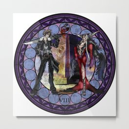 Final Fantasy VIII Stained Glass Drawing  Metal Print