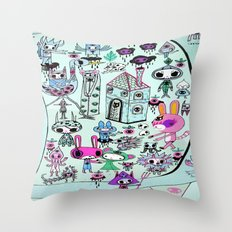 skellingpop Throw Pillow