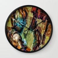 dead space Wall Clocks featuring Dead Space  by Joe Misrasi