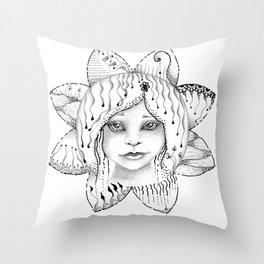 Mandala Angel Throw Pillow
