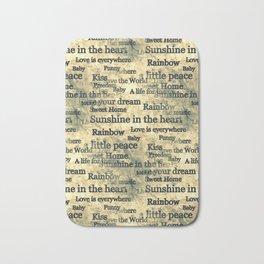 Words Popart by Nico Bielow Bath Mat