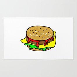 Cheeseburger Doodle Rug
