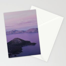 Crater Lake Sunset Stationery Cards