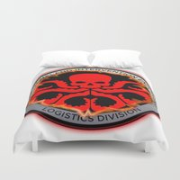 hydra Duvet Covers featuring Hail Hydra by Sdog1982