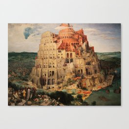 The Tower of Babel by Pieter Bruegel the Elder Canvas Print
