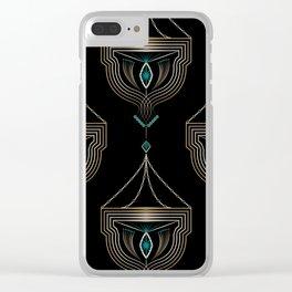 """Art Deco . """"Gold pendants """". Clear iPhone Case"""
