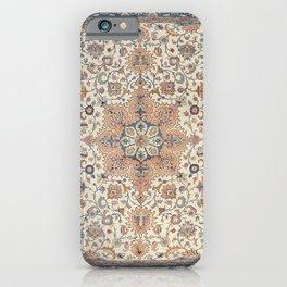 Fine Persia Tabriz Old Century Authentic Colorful Blue Rust Orange Vintage Patterns iPhone Case