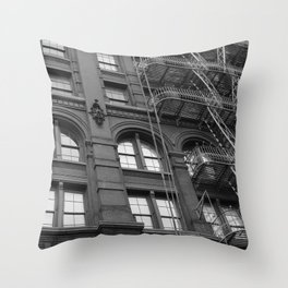 Windows and Stairs Throw Pillow