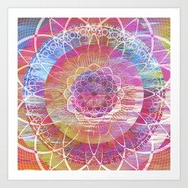 Glitch Mandala Art Print