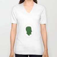 lovecraft V-neck T-shirts featuring Lovecraft Silhouette by RAdesigns