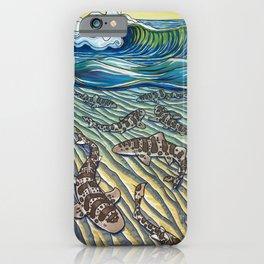 Leopard Shark Surf iPhone Case