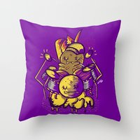 drum Throw Pillows featuring Drum by andreaga