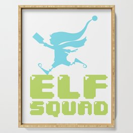 Elf Squad Elves Christmas Family Fun Gift Serving Tray