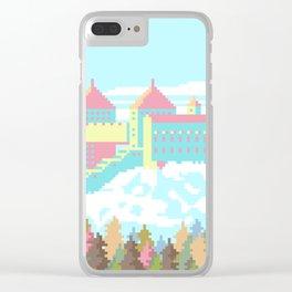 Pastel Castle Clear iPhone Case