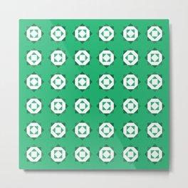 Maroccan Green Stars Metal Print