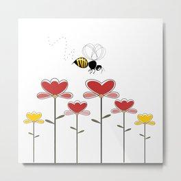 Bee loved Metal Print