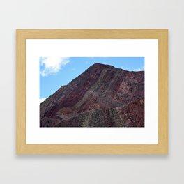 Multicolored Rocks Framed Art Print