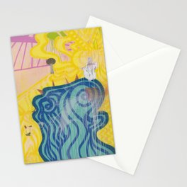 Blue in Yellow land Stationery Cards