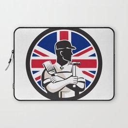 British DIY Expert Union Jack Flag Icon Laptop Sleeve