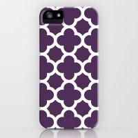 Plum Quatrefoil iPhone (5, 5s) Slim Case