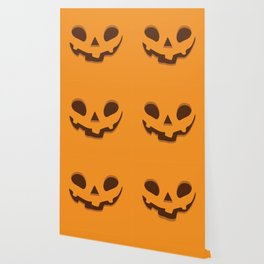 Halloween Spooky Pumpkin Face Wallpaper