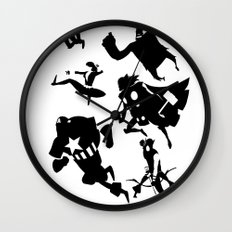 The Avengers Minimal Black and White Wall Clock