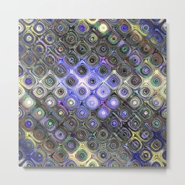 Digital Beads of Glass Metal Print