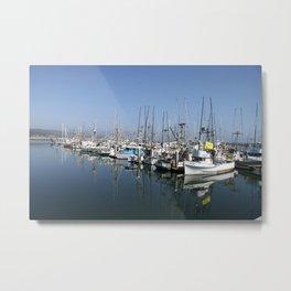 Harbor At Half Moon Bay Metal Print