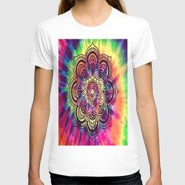 Trippy Rainbow Tiedye Mandala T-shirt