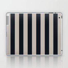 Vertical Stripes Black & Warm Gray Laptop & iPad Skin