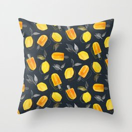 Fresh Lemons & Frozen Pops Throw Pillow