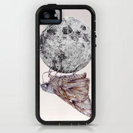 In which a moth is enticed by the light of the moon iPhone Case