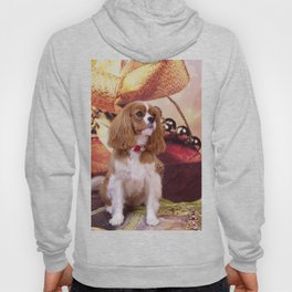 Ribbons, Bells And Cavalier King Charles Spaniel Hoody