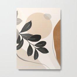 Abstract Art /Minimal Plant 22 Metal Print