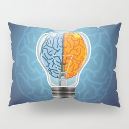 Left and Right Brain, how an idea originated, whether from the left or right brain Pillow Sham